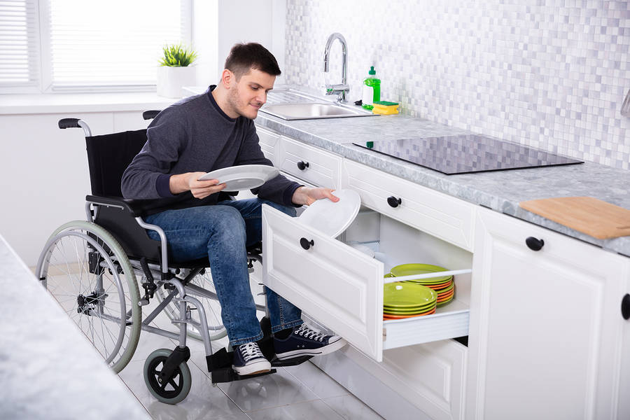 Disabled Adaptations - Rise and Fall kitchens
